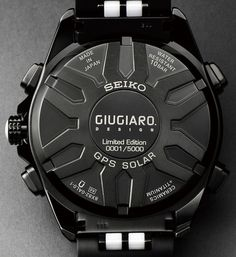 Seiko Astron Solar GPS Chronograph Limited Edition Styled By Giugiaro Design Watch Releases