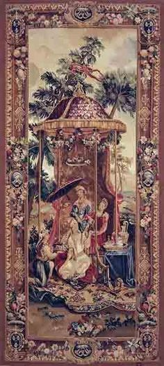 GFA Tapestry V-85 - GFA Tapestry V-85  Material: Wool  Construction: Tapestry Flat-Weave  Description: The Ancient art of weaving antique Tapestries has dated as far back as the 14th century. These ancient masterpieces were once originally decorative paintings done by famous artists. Master weavers transformed these paintings into beautiful pieces of woven art. Each Gallerie One tapestry is woven using only the finest wools, silks and dyes, requiring up to 250 shades of wool and up to ...