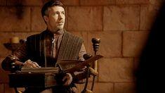 Aiden Gillen as Petyr Baelish (Littlefinger): Game of Thrones Lord Baelish, Petyr Baelish, Game Of Thrones Screencaps, Game Of Thrones Books, Aidan Gillen, Michael Malarkey, Sansa Stark, Prehistory, Great Stories