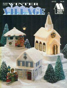 Annie's Attic WINTER VILLAGE Plastic Canvas by patternpeddlerannex, $5.95