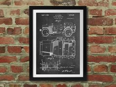 This high-quality Willy's Jeep patent drawing, discovered by The Grommet, adds some style and history to your home or office in a refined, yet playful way.