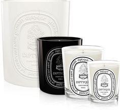 the loveliest scents burn at Diptyque...j'aime ça...    Figuier Large Color Candle by diptyque Paris | diptyque Paris
