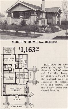 There were hundreds of designs, from the tiny Goldenrod - a simple, three-room and no-bathroom cottage for summer vacationers, to the stately four-bedroom Magnolia, the properties came pre-cut and ready to assemble