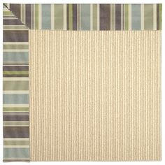 Capel Zoe Machine Tufted Blue/Brown Area Rug Rug Size: 2' x 3'