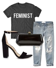 """""""Feminist and Chill."""" by tessie-ebenja on Polyvore featuring Abercrombie & Fitch, Sam Edelman and Rebecca Minkoff"""