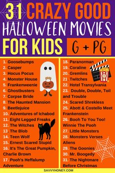 The BEST Halloween movies for kids! A Halloween movie list the whole family will enjoy! PINNING FOR LATER! These halloween movies for kids are the BEST! A list of 31 family friendly Haloween movies to enjoy the entire month of October! Halloween Tags, Halloween 2018, Halloween Movies List, Casa Halloween, Halloween Movie Night, Halloween Celebration, Creepy Halloween, Halloween Activities, Family Halloween