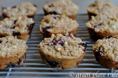 The Best #Blueberry #Chia #Streusel #Muffins #recipe #glutenfree #brainbalance #addressthecause #fruit #GF #yum #delicious #Georgia #Atlanta #ATL http://www.greenplaterule.com/recipes/the-best-blueberry-chia-streusel-muffins/