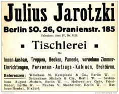 Original-Werbung/ Anzeige 1910 - TISCHLEREI JULIUS JAROTZKI / BERLIN…