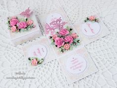 Pink exploding box by Monia - Cards and Paper Crafts at Splitcoaststampers Exploding Box Card, How To Make Box, Fancy Fold Cards, 3d Cards, Wedding Scrapbook, Craft Box, Diy Box, Flower Tutorial, Paper Gifts