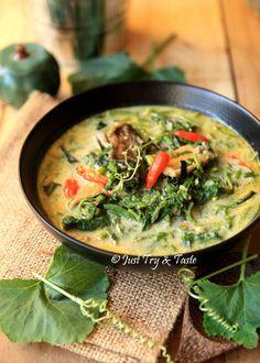 Resep Pucuk Labu Kuning Masak Lemak - Hasil Kebun Sendiri! Yeay! | Just Try & Taste