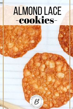 These almond lace cookies are a wafer-thin nut brittle-like sweet that delicately breaks with a slight crunch in your mouth and you are left with a toffee flavor combined with a hint of amaretto. A recipe adapted from Cooking Light magazine. #holidaybaking #cookieexchange #cookierecipe #abakershouse #amaretto #easycookierecipe Best Christmas Cookie Recipe, Best Cookie Recipes, Holiday Cookies, Holiday Recipes, Toffee Nut, Lace Cookies, Wafer Thin, Cooking Light, Holiday Baking