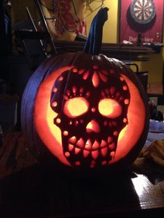 Pumpkin carving Sugar Skull