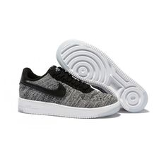 wholesale dealer 3a05d e06dc Nike Air Force 1 Flyknit Low Men s - Gray Black