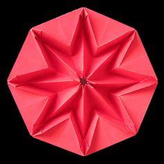Origami: Star Puff, back