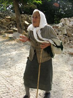 The Greek women are so tough...she must be over 90 and we found her walking in the middle of nowhere.