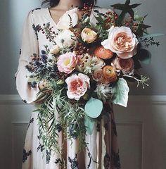 Peach and Green Bridal Bride Wedding Bouquet Floral Arrangement Bouquet Bride, Wedding Bouquets, Peach Bouquet, Burgundy Bouquet, Boho Wedding, Floral Wedding, Dream Wedding, Wedding Peach, Wedding Things