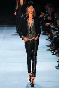 knit + trousers + shoes. saint laurent paris spring rtw 2013