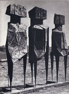 ha!  nice to see an older tumblr post of mine making the rounds: lynn chadwick - the watchers, 1960 (originally posted to flickr by bollops)