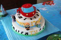 Little Einsteins Cake - this is a little einsteins cake i made for my son's first birthday..
