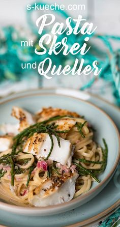 Pasta with Skrei and Queller and Sylt in January, Norwegian winter cod- Pasta mit Skrei und Queller und Sylt im Januar, norwegischer Winterkabeljau Recipe for pasta with skrei and queller. The Norwegian … - Seafood Platter, Seafood Soup, Fish And Seafood, Shellfish Recipes, Seafood Recipes, Pasta Recipes, Healthiest Seafood, How To Cook Fish, 30 Minute Meals