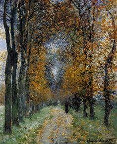 Claude Monet, the avenue