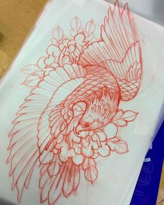 Super phoenix bird sketch how to draw 64 Ideas Tattoos Phönix, Irezumi Tattoos, Bodysuit Tattoos, Tattoo Ink, Temporary Tattoos, Tattoo Design Drawings, Bird Drawings, Tattoo Sketches, Tribal Tattoos For Men