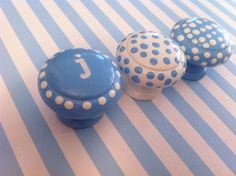 Dresser Knobs hand painted in light blue with by TheLittleNursery, $5.50