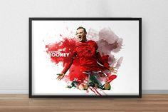 Wayne Rooney  Rooney poster  Roonet print  by TroutLifeStudio