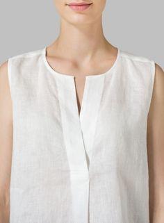 MISSY Clothing - Linen Surplice V-Neck Blouse