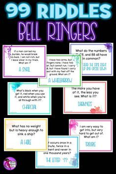 Riddles / Brain Teasers Morning Meeting / Bell Ringer Activities Here are 99 of the best riddles out there that you can use as bell ringers / lesson starter activities for teens! Kids Riddles With Answers, Tricky Riddles, Jokes And Riddles, Brain Teasers Riddles, Brain Teasers For Kids, Brain Teasers With Answers, Activities For Teens, Games For Teens, Games To Play With Kids