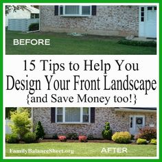Front-Yard Landscaping: 15 Tips To Help You Design Your Landscape and Save Money