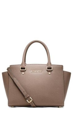 MICHAEL Michael Kors 'Medium Selma' Leather Satchel available at #Nordstrom (LOVE the Dark Dune colour!)