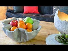 DIY Schale aus Beton / Concrete Krempelschale - YouTube