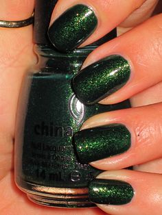 """China Glaze. glittering garland. another """"once in a while"""" shade, though perhaps a must have just """"to have."""""""