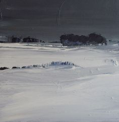 SNOW EVE  30cm x 30cm, on panel.