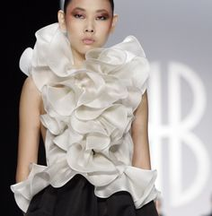 Bill Blass designed by Peter Som is modeled during Fashion Week in New York, Thursday, Feb. 7, 2008.