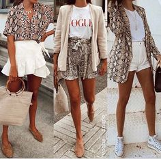 Animal-Prints sind immer in Mode. Animal Print Outfits, Animal Print Fashion, Animal Prints, Look Fashion, Fashion Outfits, Womens Fashion, Fashion Trends, Cute Summer Outfits, Spring Outfits