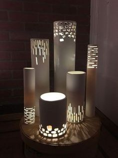 Plug In Vanity Lighting: DIY PVC pipe lighting tutorial - gorgeous! Would be pretty spray painted or  covered in,Lighting