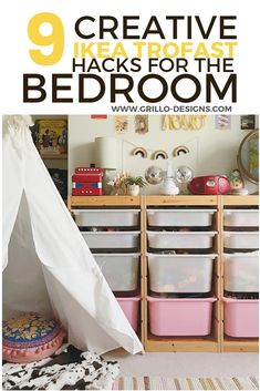 The IKEA TROFAST collection is a brilliant and functional storage range for kids bedrooms . Check out these creative TROFAST HACKS Kids Kids Bedroom Furniture, Diy Furniture Projects, Ikea Furniture, Bedroom Ideas, Furniture Logo, Luxury Furniture, Bedroom Hacks, Bedroom Decor, Decoupage Furniture