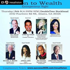 #Repost @iresalliston with @repostapp  If youre looking for a new career/change or an entrepreneur you dont want to miss this event. You will learn:  How to --  5 Keys to Build a Successful Business in Today's Economy  Get Funding for your Business  Turn your Passion into Immediate Cash Flow  Dominate your Marketplace  Connect & Do Business with Millionaires  and much more!  Get your complimentary ticket today at http://ift.tt/2ln4pfm  FREE Gift for attending!  Connect with Local…