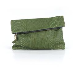 Pre-owned Clare Vivier Clutch: Green Women's Bags ($79) ❤ liked on Polyvore featuring bags, handbags, clutches, green, man bag, green purse, green clutches, handbag purse and clare v clutches
