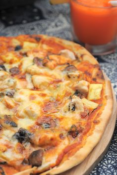 Chicken Pizza at The Restaurant, Komaneka at Bisma Ubud Bali Indonesia
