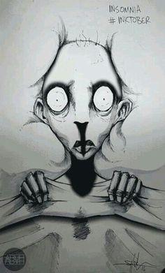 "madebyabvh: "" Original illustration by Shawn Coss "" Dark Art Illustrations, Dark Art Drawings, Illustration Art, Creepy Sketches, Art Sketches, Arte Horror, Horror Art, Dibujos Dark, Arte Grunge"