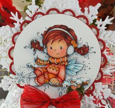 Christmas Holly Wee image / Whimsy Stamps
