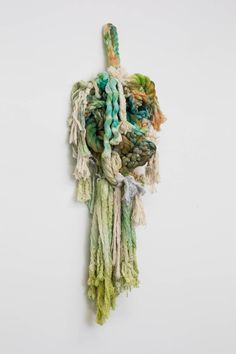 Tanya Aguiñiga -- Untitled , 2015 Natural and hand-dyed rope 39 x 14 x 5 in Fringe Fabric, Textiles, Textile Artists, Weaving, Artsy, Gallery, Artwork, Crafts, Painting