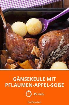 Gänsekeule mit Pflaumen-Apfel-Soße - smarter - Zeit: 45 Min. | eatsmarter.de