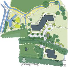 Combining landscape restoration with optimalizing the living environment for elderly people in Assen. Design by Vollmer & Partners