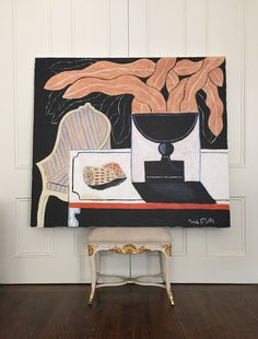 Roomscape No. I Acrylic On Stretched Linen Canvas Artwork Dimensions: X Picture Frame Inspiration, Picasso And Braque, Art Object, Illustration Art, Illustrations, Beautiful Artwork, Amazing Art, Awesome, Art Pictures