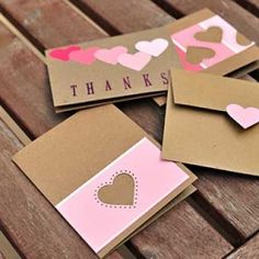 Easy peasy paint chip thank you cards