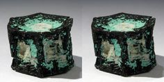 Copper Pseudomorph after Aragonite (Stereo Pair). by Stan Celestian Corocoro, Bolivia